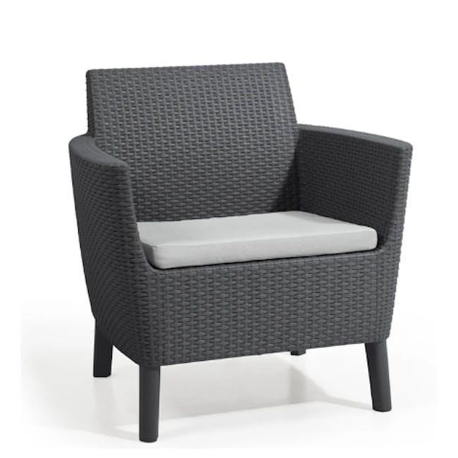 Salemo 2-Seater Lounge Sofa Set - Graphite - 4