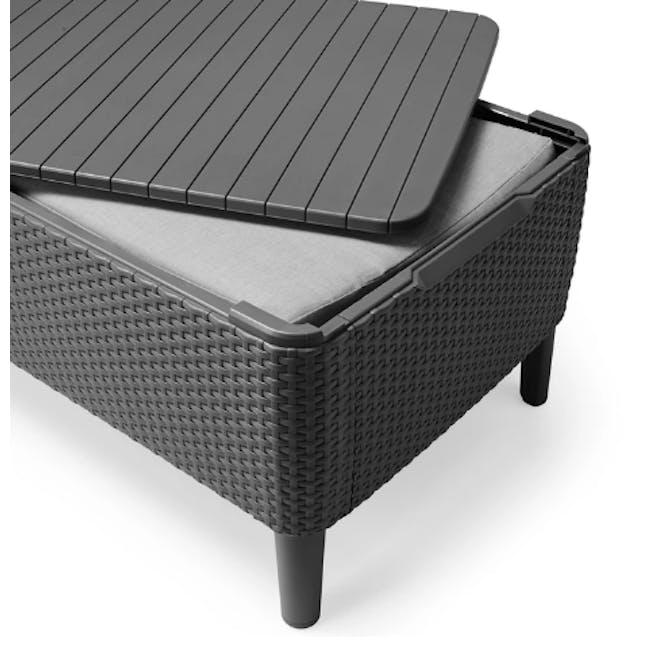 Salemo 2-Seater Lounge Sofa Set - Graphite - 7