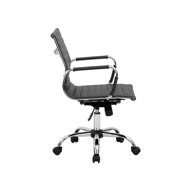 (As-is) Eames Mid Back Office Chair - Black (PU) - 12 - 26