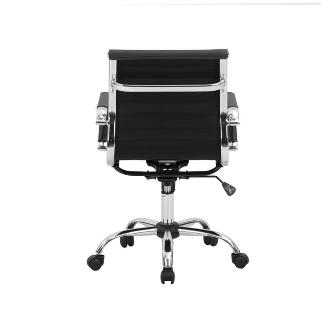 (As-is) Eames Mid Back Office Chair - Black (PU) - 12 - 27