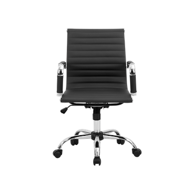 Eames Mid Back Office Chair - Black (PU) - Image 1