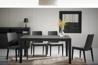 Cole Dining Table 2m - Black Ash - Image 2