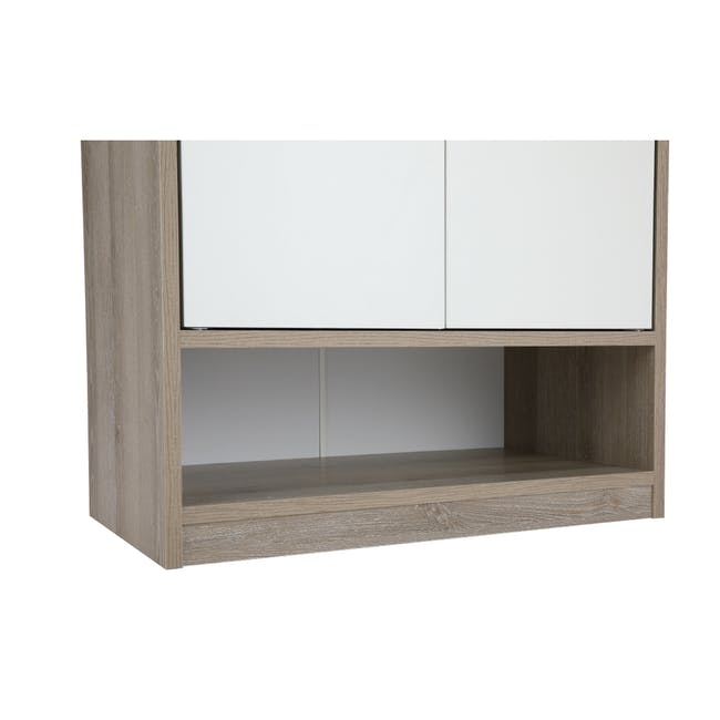 Penny Shoe Cabinet - Natural, White - 11