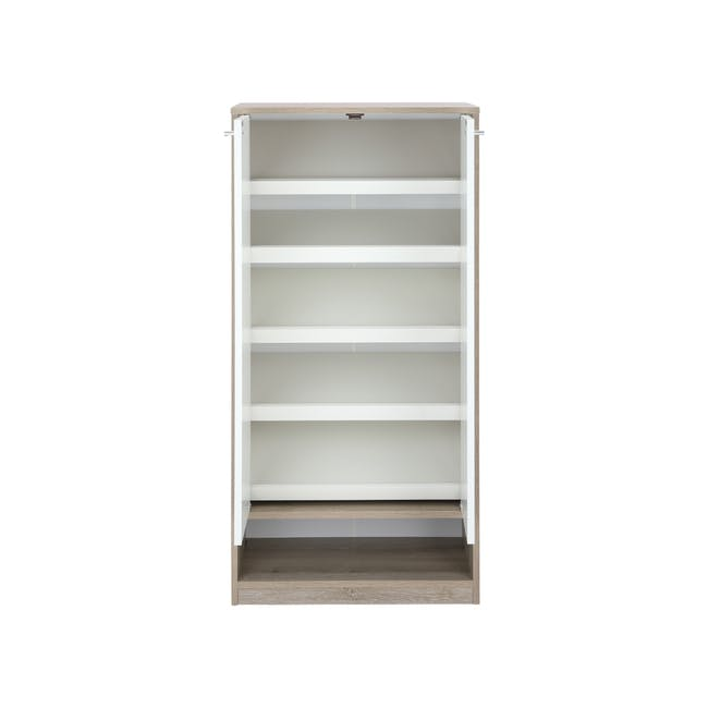 Penny Shoe Cabinet - Natural, White - 9