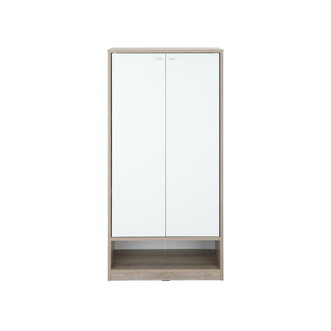 Penny Shoe Cabinet - Natural, White - 0