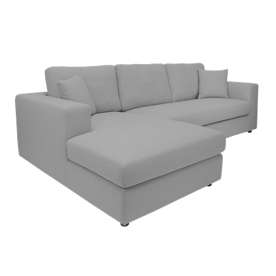 Jenny L Shape Sofa - Light Grey - Image 2