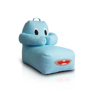 Hugbear Bean Bag - Checkered Blue
