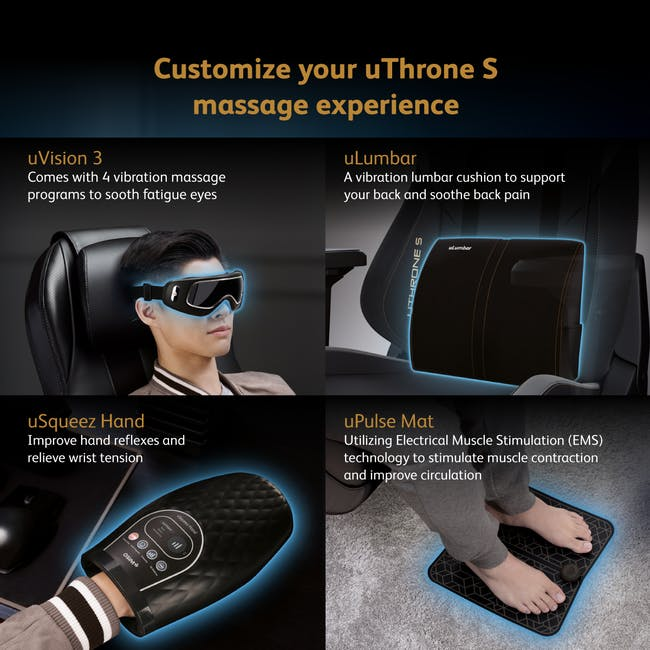 OSIM x Marvel uThrone S Massage Chair with Customizable Massage - Self Assembled - Captain America - 10
