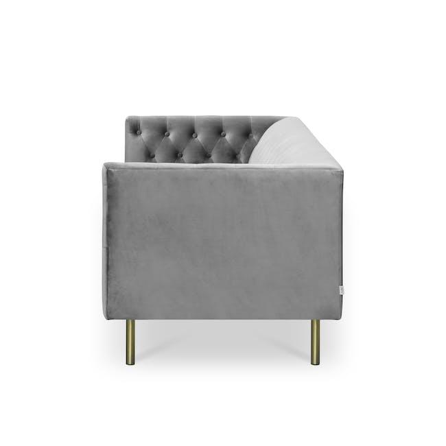 Cadencia 2 Seater Sofa - Anchor Grey (Velvet) - 4