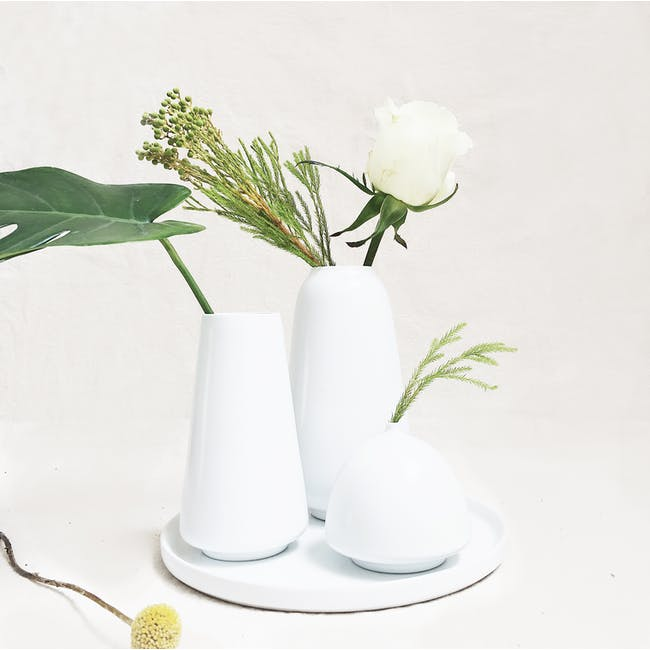Ceramic Display Tray - White - 3