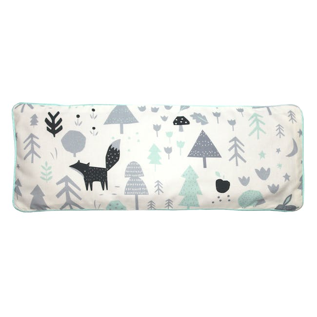 Baby Woodland Snuggy Beansprout Husk Pillow - Icy Mint (Organic Cotton) - 0