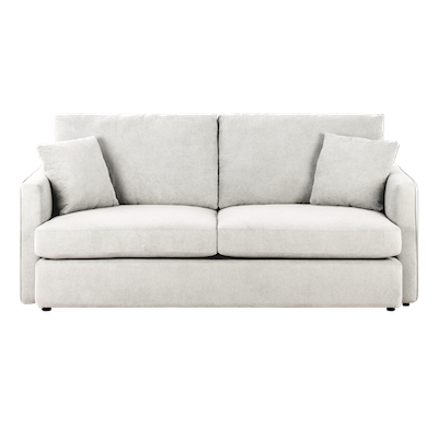 Ashley 3 Seater Sofa - Ivory - Image 1