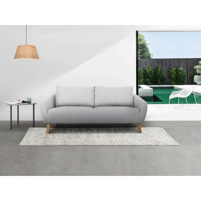 Hana 3 Seater Sofa- Light Grey - 5