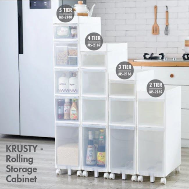 Krusty 3 Tier Rolling Storage Cabinet - 5