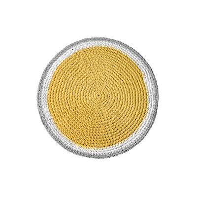 Crochet Round Rug - Yellow - Image 2