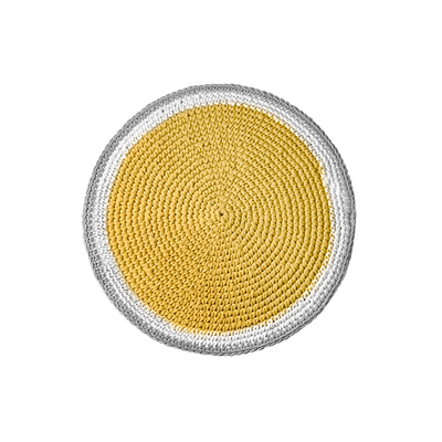 Crochet Round Rug - Yellow