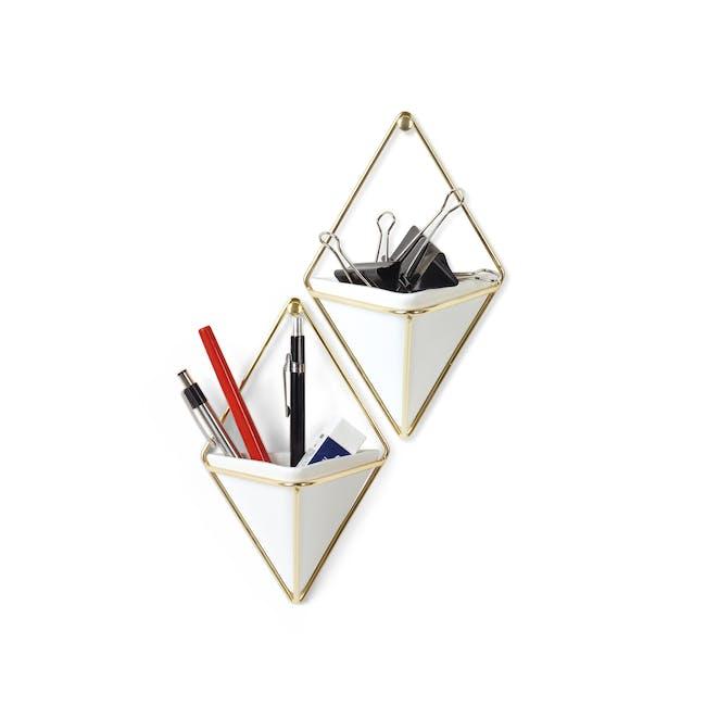 Trigg Small Wall Vessel (Set of 2) - Brass - 1