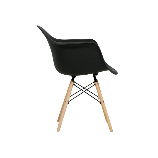 DAW Chair Replica - Natural, Black - 3