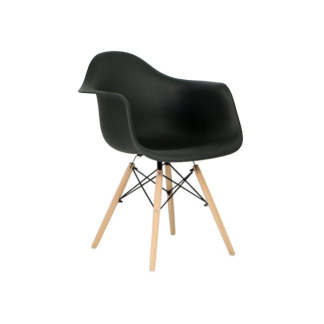 DAW Chair Replica - Natural, Black - 0