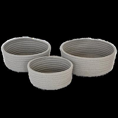 Celine Cotton Rope Storage - Grey (Set of 3) - Image 1