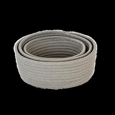 Celine Cotton Rope Storage - Grey (Set of 3) - Image 2