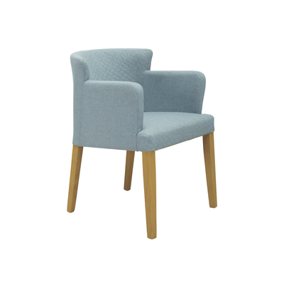 Rhoda Armchair - Natural, Aquamarine - Image 1