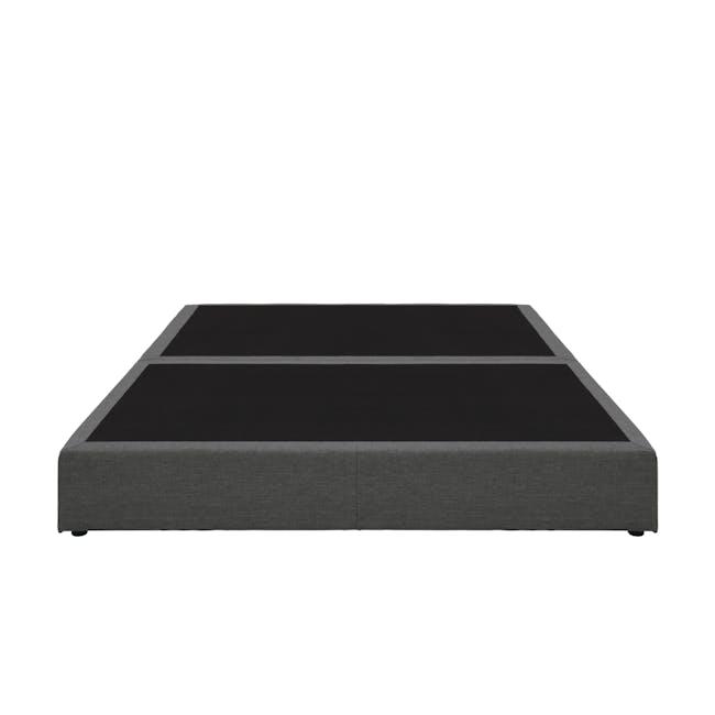 ESSENTIALS Queen Box Bed - Smoke (Fabric) - 1