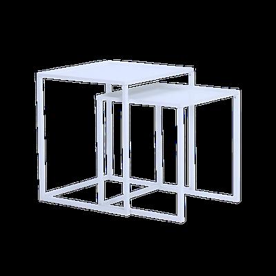 Luso Nesting Coffee Table - Matte White - Image 2