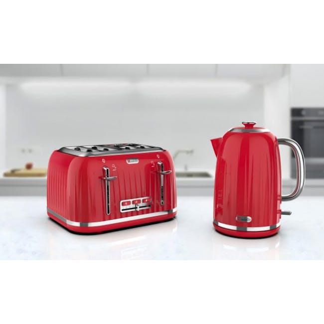 Odette Jukebox 1.7L Retro Electric Kettle - Red - 1