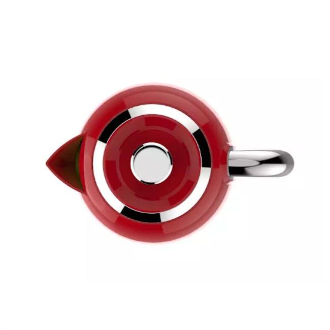 Odette Jukebox 1.7L Retro Electric Kettle - Red - 4
