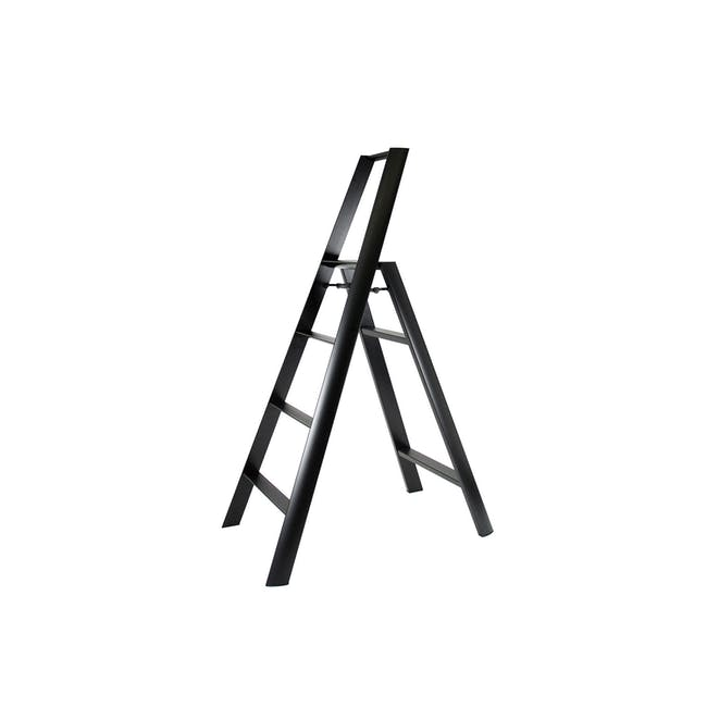 Hasegawa Lucano Aluminium 4 Step Ladder - Black - 0