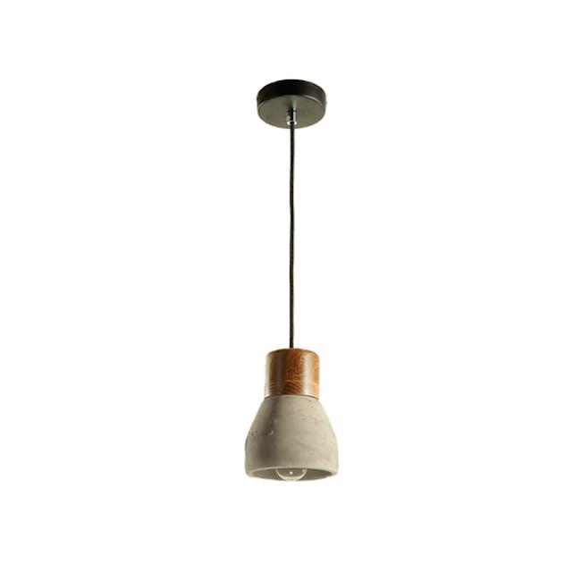 (As-is) Charlie Concrete Pendant Lamp - Grey - 2 - 0