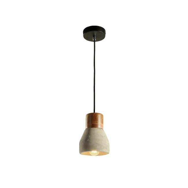 (As-is) Charlie Concrete Pendant Lamp - Grey - 2 - 6