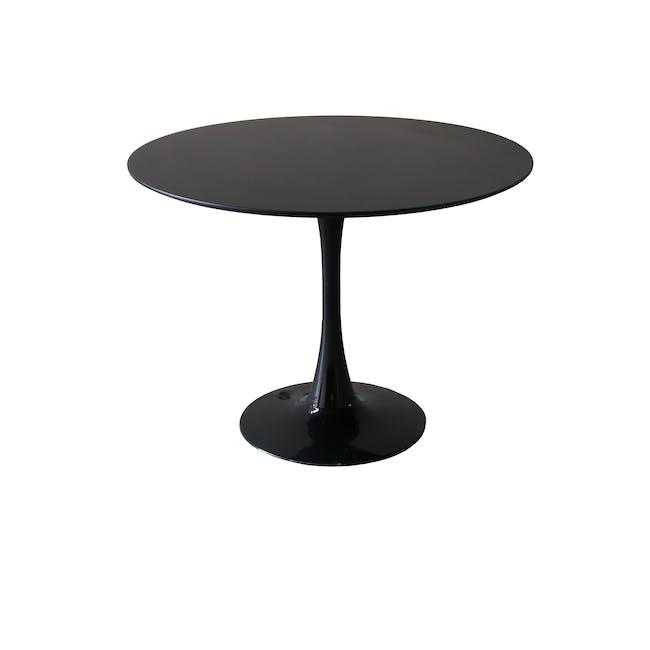 Carmen Round Dining Table 1m - Black - 1