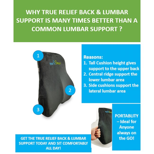 True Relief Back Care Combo Value Set -  Wine Red - 2