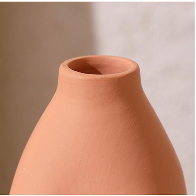 Female Sculpture Body Art  Ceramic Vase - Light Terracotta - 6