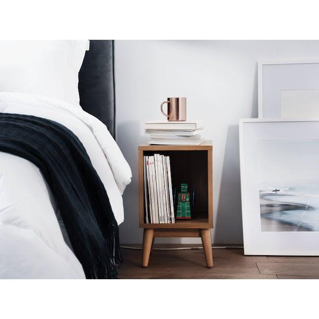 Kyoto Single Shelf Bedside Table - Oak - 1