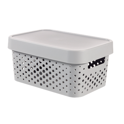 Infinity Box Dots + Lid - Grey - Image 1
