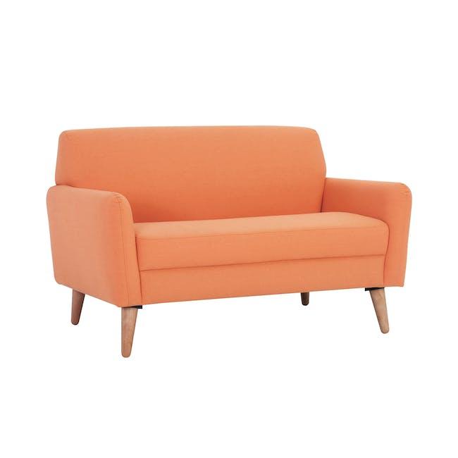 Ruth 2 Seater Sofa - Tangerine (Fabric) - 0