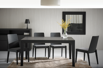 (As-is) Cole Dining Table 1.5m - Black Ash - 1 - Image 2