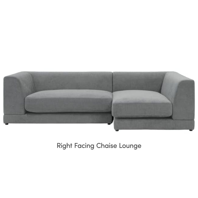 Abby L-Shaped Lounge Sofa - Stone - 13