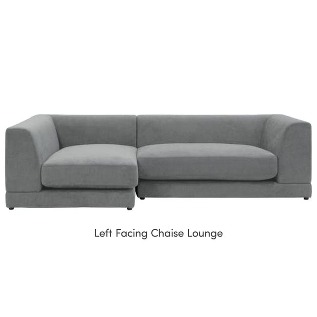 Abby L-Shaped Lounge Sofa - Stone - 12