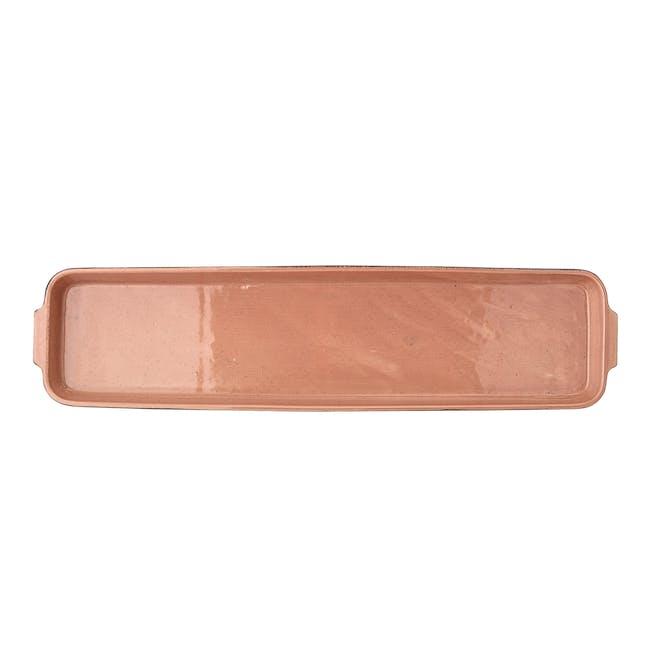 Sienna Serving Plate - Black, Orange - 1