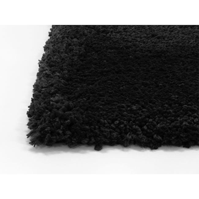 Mia High Pile Rug 3m x 2m - Black - 1