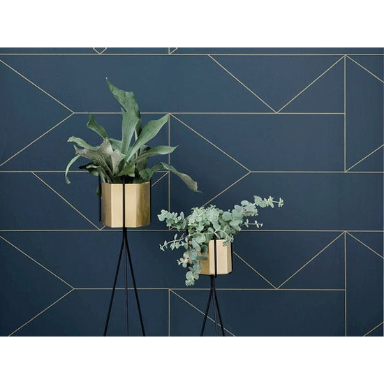 1688 - Logan Floor Planter - Brass