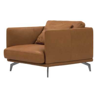 Como 1.5 Seater Sofa - Tan (Premium Cowhide), Down Feathers - Image 2