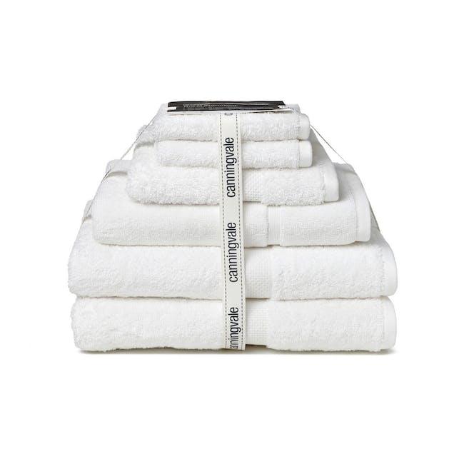 Canningvale Royal Splendour 6pc Towel Set - White - 0