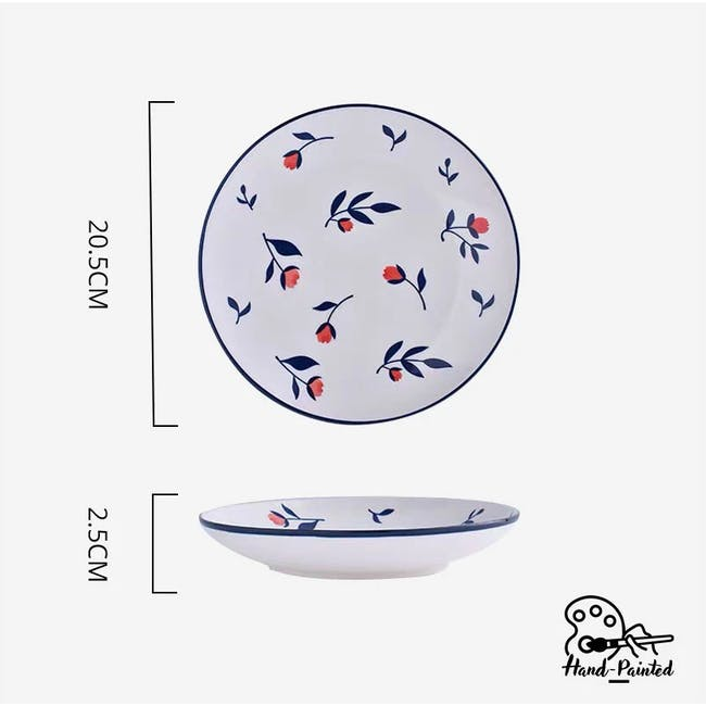 Table Matters Rose Sweet Hand Painted Rice Plate - 3