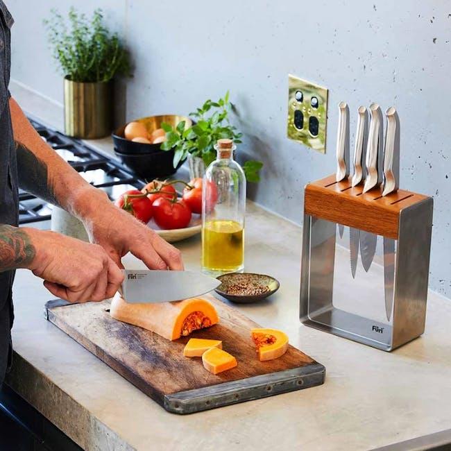 Furi Pro 7pc Stainless Steel Knife Block Set - 1