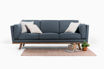 (As-is) Carter 3 Seater Sofa - Space Blue -2 - Image 2